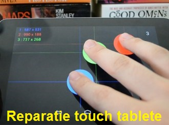 reparatie touch tablete